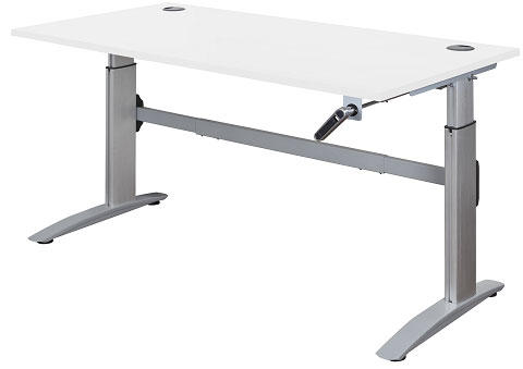 Deluxe HT, Manual Crank, Height Adjustable Sit to Stand desk, Express Finish.