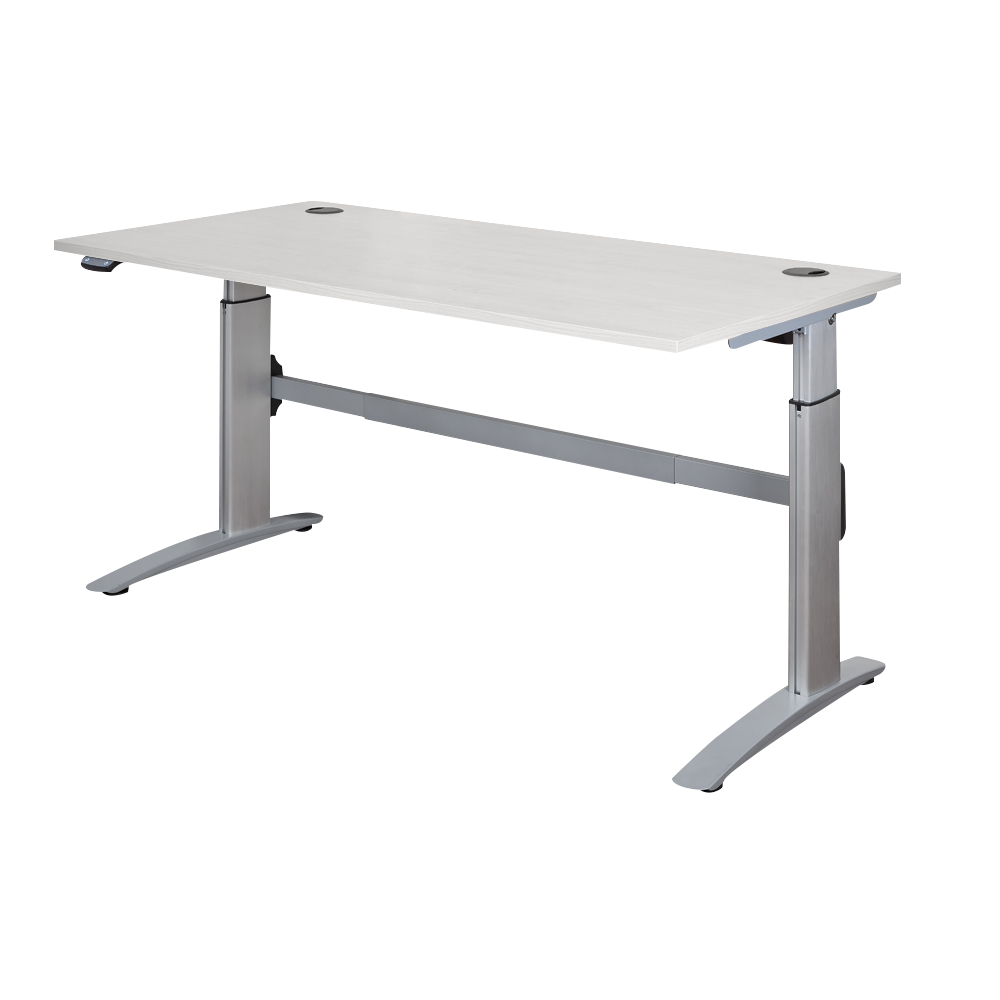 DELUXE, Aluminium electric height adjustable, Sit to Stand Desk.