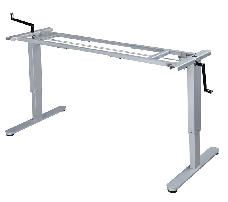 Fundamental, Manual Crank Height Adjustable sit to stand desk frame.